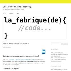 PHP : le design pattern Observateur