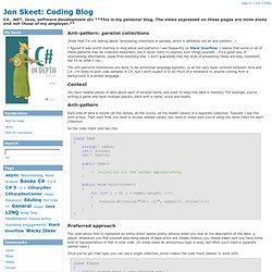 Anti-pattern: parallel collections - Jon Skeet: Coding Blog