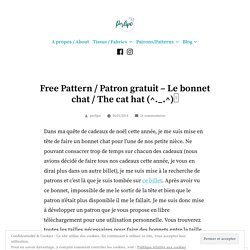 Free Pattern / Patron gratuit – Le bonnet chat / The cat hat (^._.^)ノ