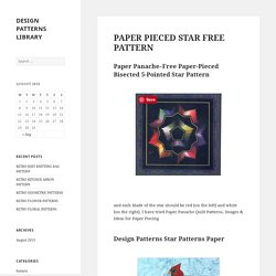 PAPER PIECED STAR FREE PATTERN – DESIGN PATTERNS LIBRARY