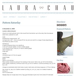 knits! » Blog Archive » pattern Saturday