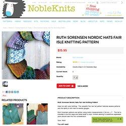 Ruth Sorensen Nordic Hats Knitting Pattern
