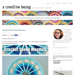 free pattern: spoke mandala - a creative being