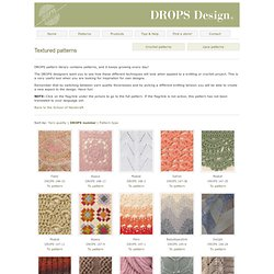 DROPS Pattern Library: Textured patterns ~ DROPS Design