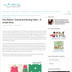 Free Pattern, Tutorial and Sewing Video – A simple dress