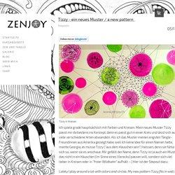 Tizzy - ein neues Muster / a new pattern  - Zenjoy Zentangle ® Zürich Schweiz