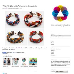 Thief & Bandit Patterned Bracelets