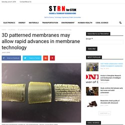 3D patterned membranes may allow rapid advances in membrane technology - Science and Technology Research News