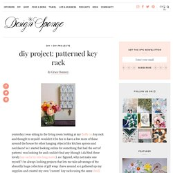 patterned key rack – Design*Sponge