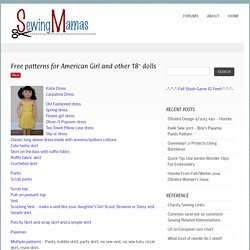 Many Patterns: AG & Other 18″Dolls - Sewing Mamas Blog