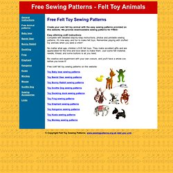 Free Sewing Patterns - felt toy animals with easy downloadable sewing patterns