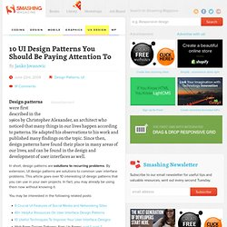10 UI Design Patterns You Should Be Paying Attention To - Smashing Magazine