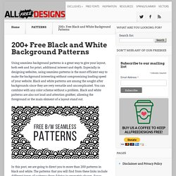 Black and White Patterns: 200+ Backgrounds Designs