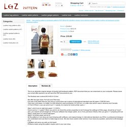 bag sewing patterns backpack patterns PDF BDQ-36 LZpattern design hand stitched leather pattern leather art backpack purses daypacks pattern