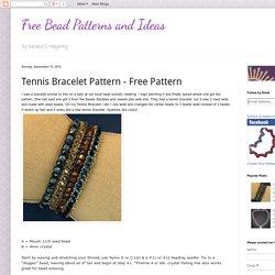 Tennis Bracelet Pattern - Free Pattern