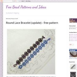 Round Lace Bracelet (update) - free pattern