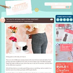 The Colette Patterns Pants Fitting Cheatsheet