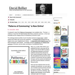 """Patterns of Commoning"" is Now Online!"