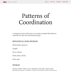 Patterns of Coordination