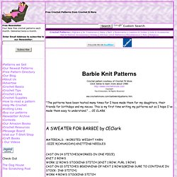 Barbie Knit: Sweater, Tube Top, Purse, Bell Bottoms