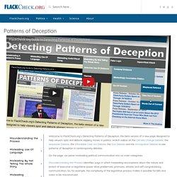 Patterns of Deception - Politics