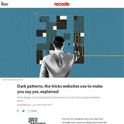 How dark patterns in web design trick you into saying yes