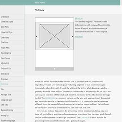 Web Design Patterns for Mobile Devices - Slideshow