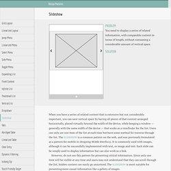 Web Design Patterns for Mobile Devices - Slideshow