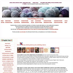 71b-English free CROSS STITCH patterns embroidery designs color stitching charts 2