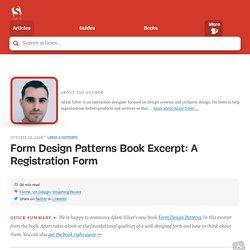 Form Design Patterns Book Excerpt: A Registration Form