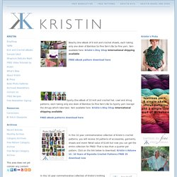 FREE Patterns - Exquisite knit & crochet designs with fine yarns