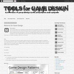 Tools for Game Design: Patterns for Game Design