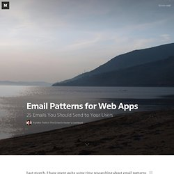 Email Patterns for Web Apps — The Growth Hacker's Cookbook