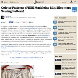 Madeleine Mini Bloomers Sewing Pattern!