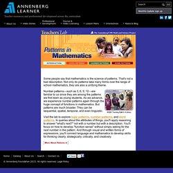 Patterns in Mathematics