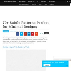 70+ Subtle Patterns Perfect for Minimal Designs