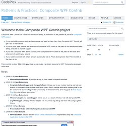Patterns & Practices: Composite WPF Contrib