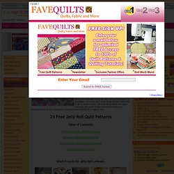 24 Free Jelly Roll Quilt Patterns + 10 New Jelly Roll Quilts