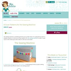 8 Cover Patterns for the Sewing Machine