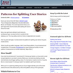 Splitting User Stories