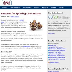 Patterns for Splitting User Stories - Agile For All