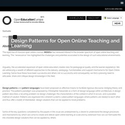 Design Patterns for Open Online Teaching and Learning