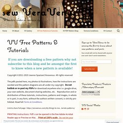 VV Free Patterns & Tutorials