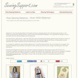 4500+ Free Sewing Patterns