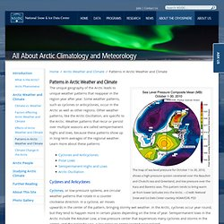 The Arctic Oscillation and Arctic Weather Patterns