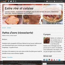 Pattes d'ours (viennoiserie)