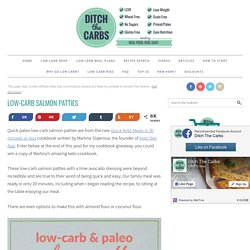 Salmon Patties - with lime avocaado dressing