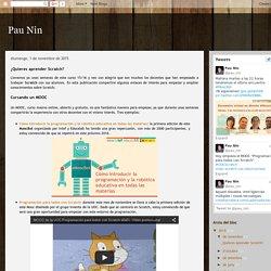 Pau Nin: ¿Quieres aprender Scratch?