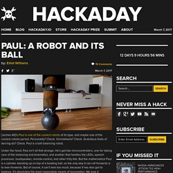 Paul: A Robot and its Ball