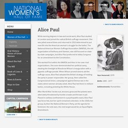 Paul, Alice - National Women's Hall of Fame